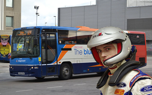 STAGECOACH BLUEBIRD CLIMBS ABOARD RALLY ADVENTURE